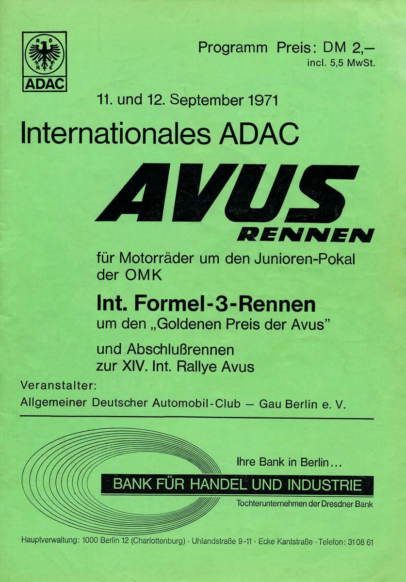 12.09.1971 - Avus