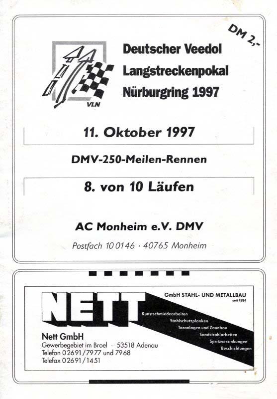11.10.1997 - Nürburgring