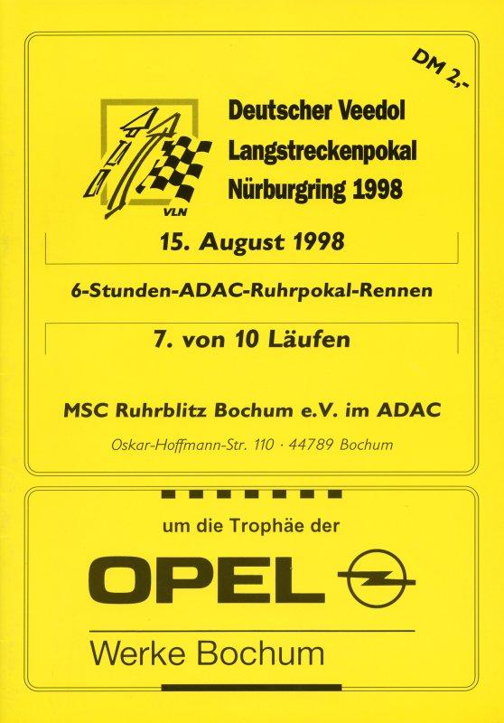15.08.1998 - Nürburgring