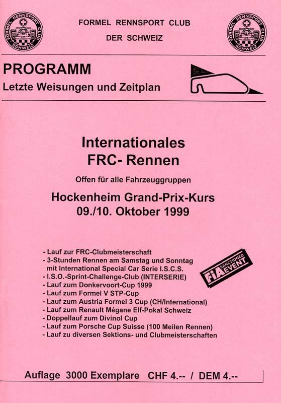10.10.1999 - Hockenheim