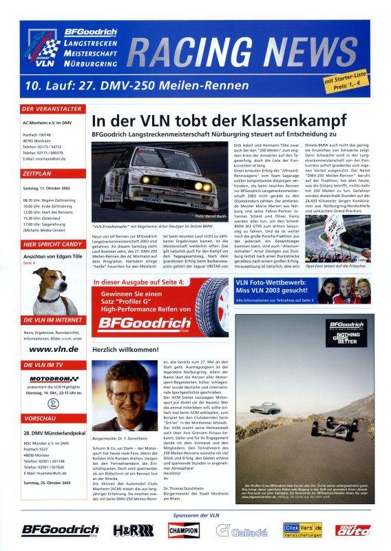 11.10.2003 - Nürburgring