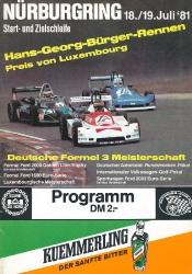 19.07.1981 - Nürburgring