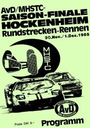 01.12.1985 - Hockenheim