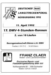 11.04.1992 - Nürburgring