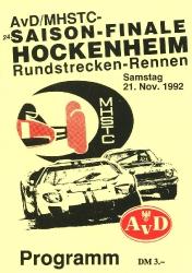 21.11.1992 - Hockenheim